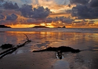 Winter Sunset over Worm