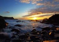 Spring Sunset at Traeth Llyfn, nr Abereiddi