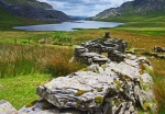 The remains of an old cottage overlooking Llyn Cwmorthin