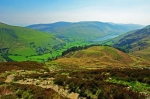 The view south-west from the Cadair Idris foothills to Tal-y-llyn and beyond
