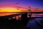The Severn Bridge at Sunset