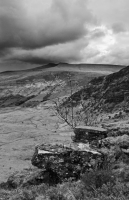 30.A Black and White shot of PYF and Corn Du from Craig Cerrig Gleisiad