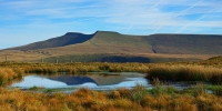 5.A tarn near Fan Frynych adds interest to this view of the Beacons