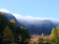 Low cloud on a bright autumnal morning at Craig Cerrig -gleisiad